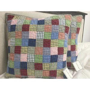 """Set of 2 Nautica 16"""" Quilted Throw Pillow Covers"""